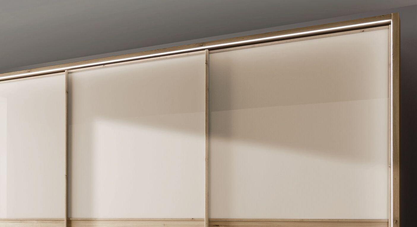 Schwebetüren-Kleiderschrank Corato optional mit Beleuchtung