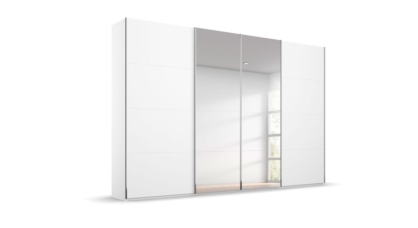 Schwebetüren-Kleiderschrank Eleisa mit Spiegeltüren