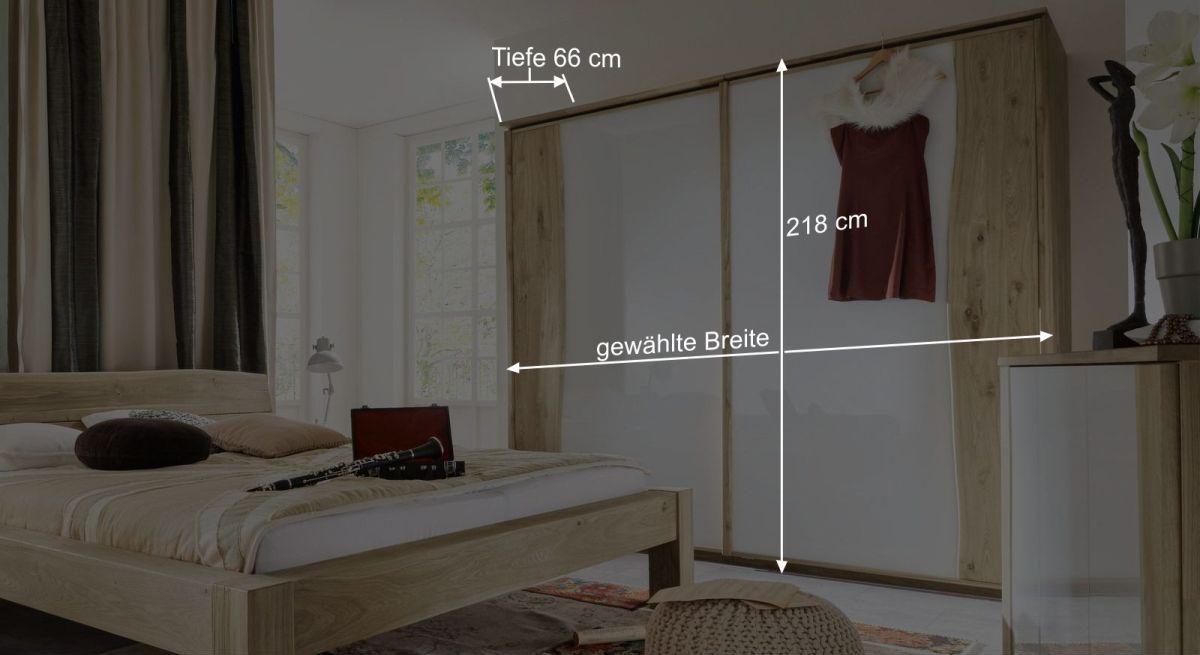 Bemaßungsgrafik vom Schwebetüren-Kleiderschrank Imst