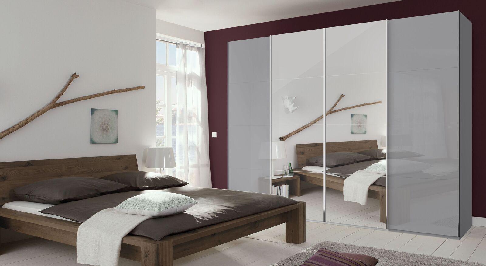 Moderner Schwebetüren-Kleiderschrank Jelica mit Spiegel und Glastüren
