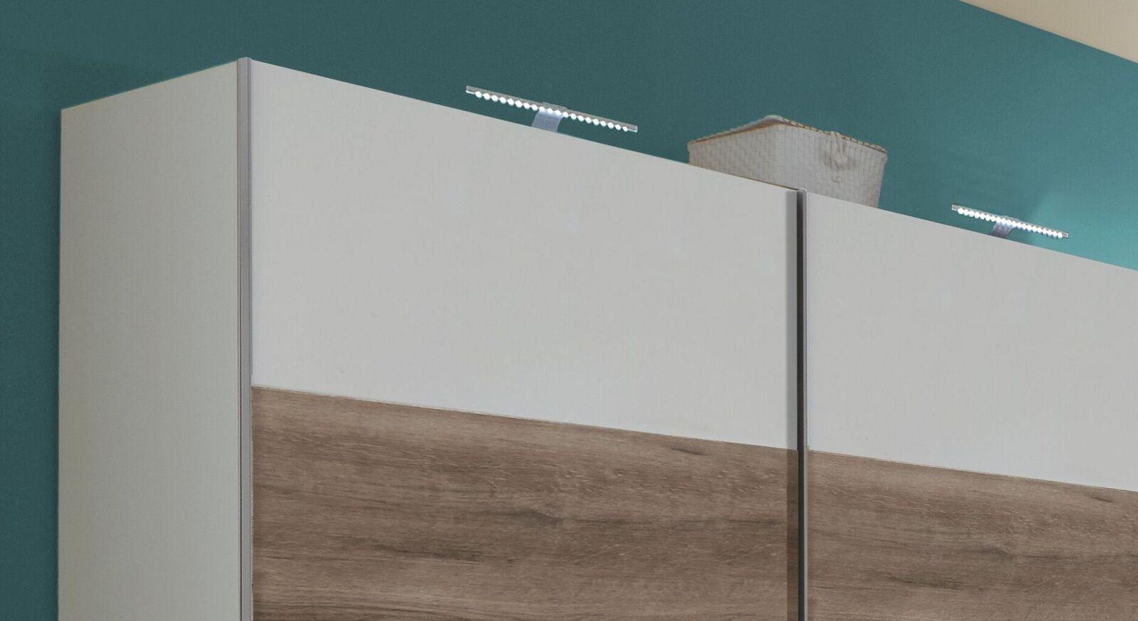 Schwebetüren-Kleiderschrank Kenva mit optionaler Beleuchtung