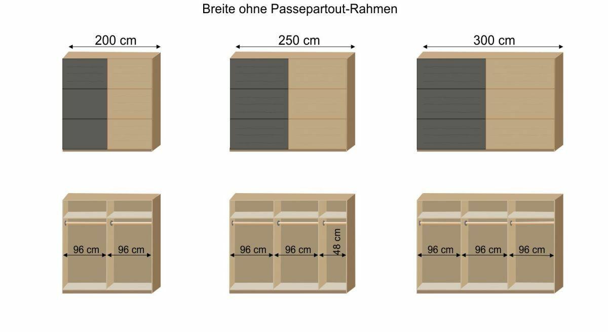 Grafik zur Innenausstattung des Schwebetüren-Kleiderschranks Mancos