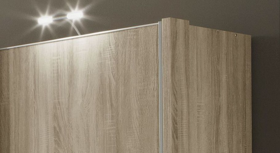 Schwebetüren-Kleiderschrank Palmira wahlweise mit Seitenstollen