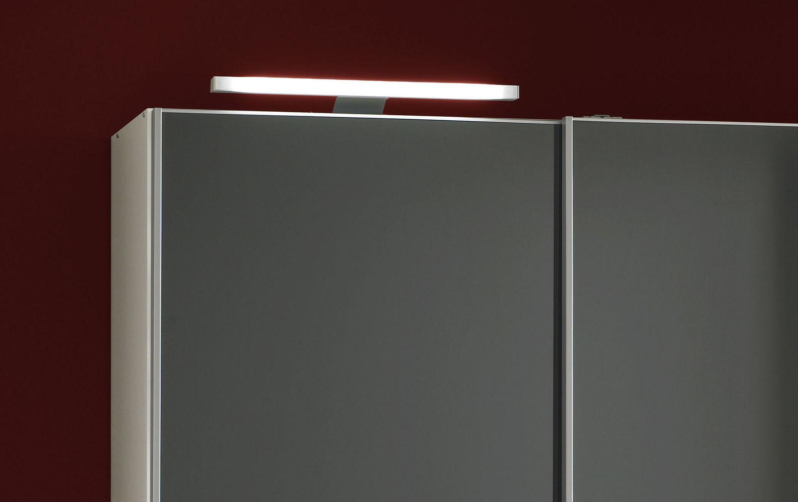 Schwebetüren-Kleiderschrank Perry optional mit LED Stableuchte