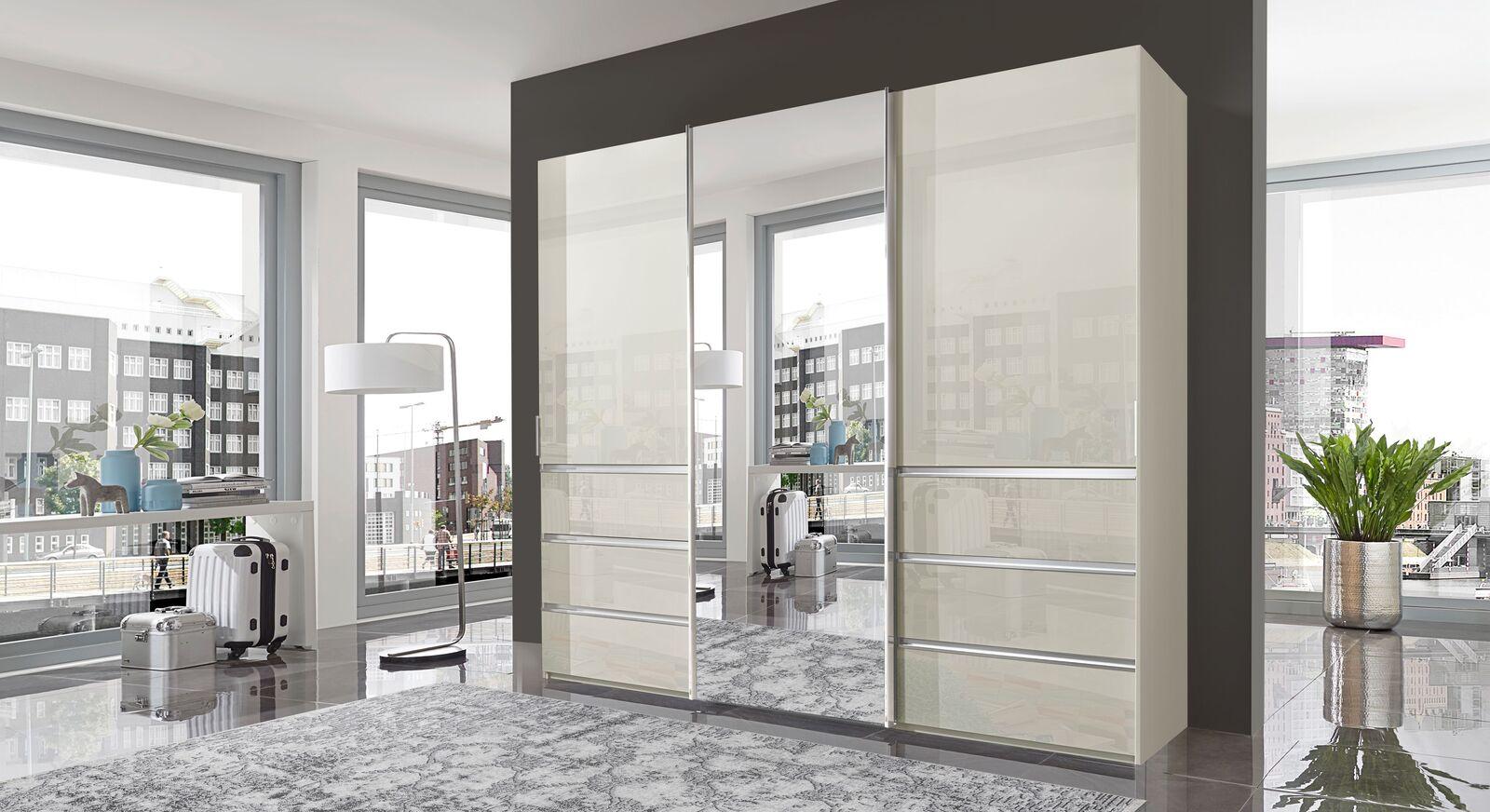 Schwebetüren-Kleiderschrank Ramsey mit elegantem Spiegel