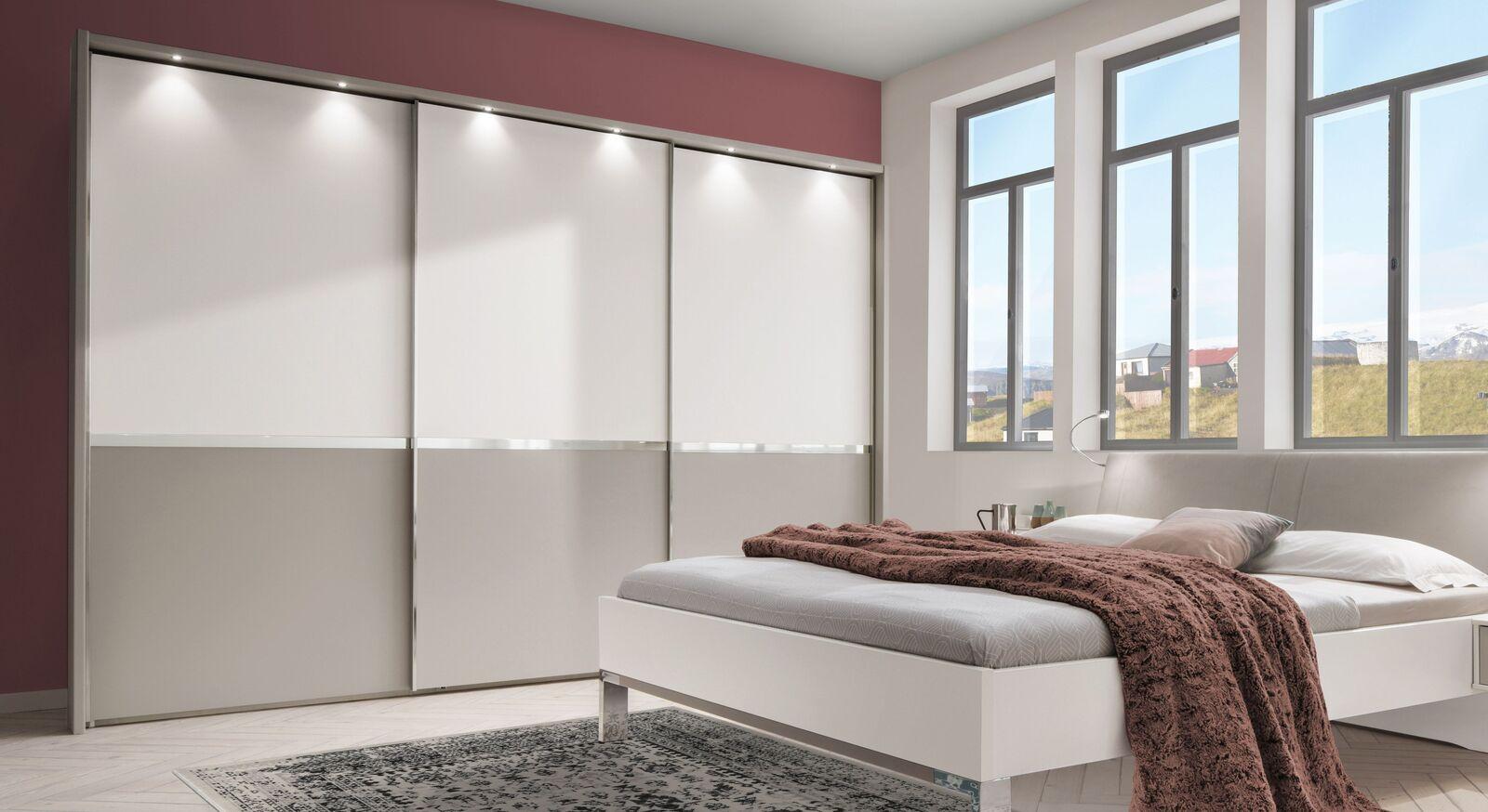 Schwebetüren-Kleiderschrank Tulsa optional mit Beleuchtung