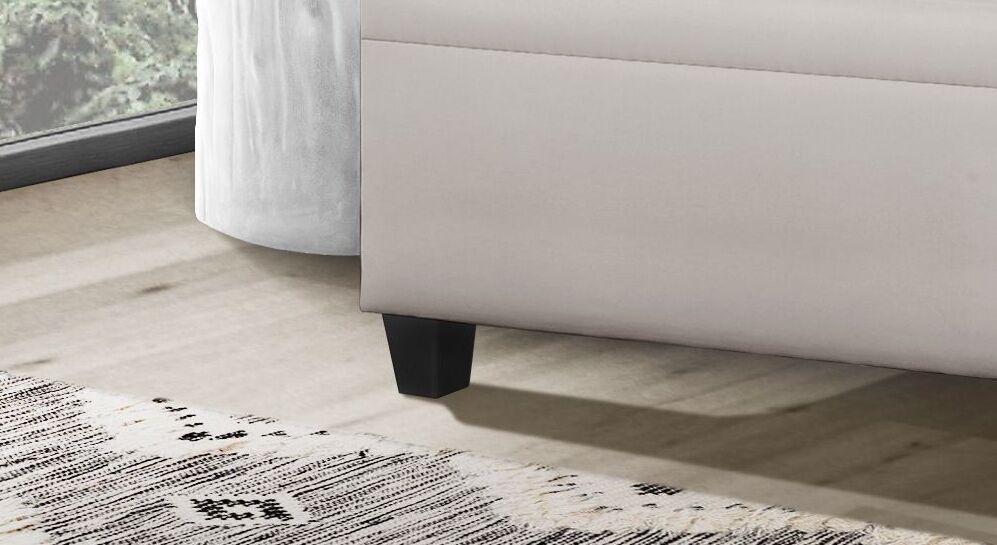 Sofaliege Kamina Komfort mit Blockfüßen aus Holz