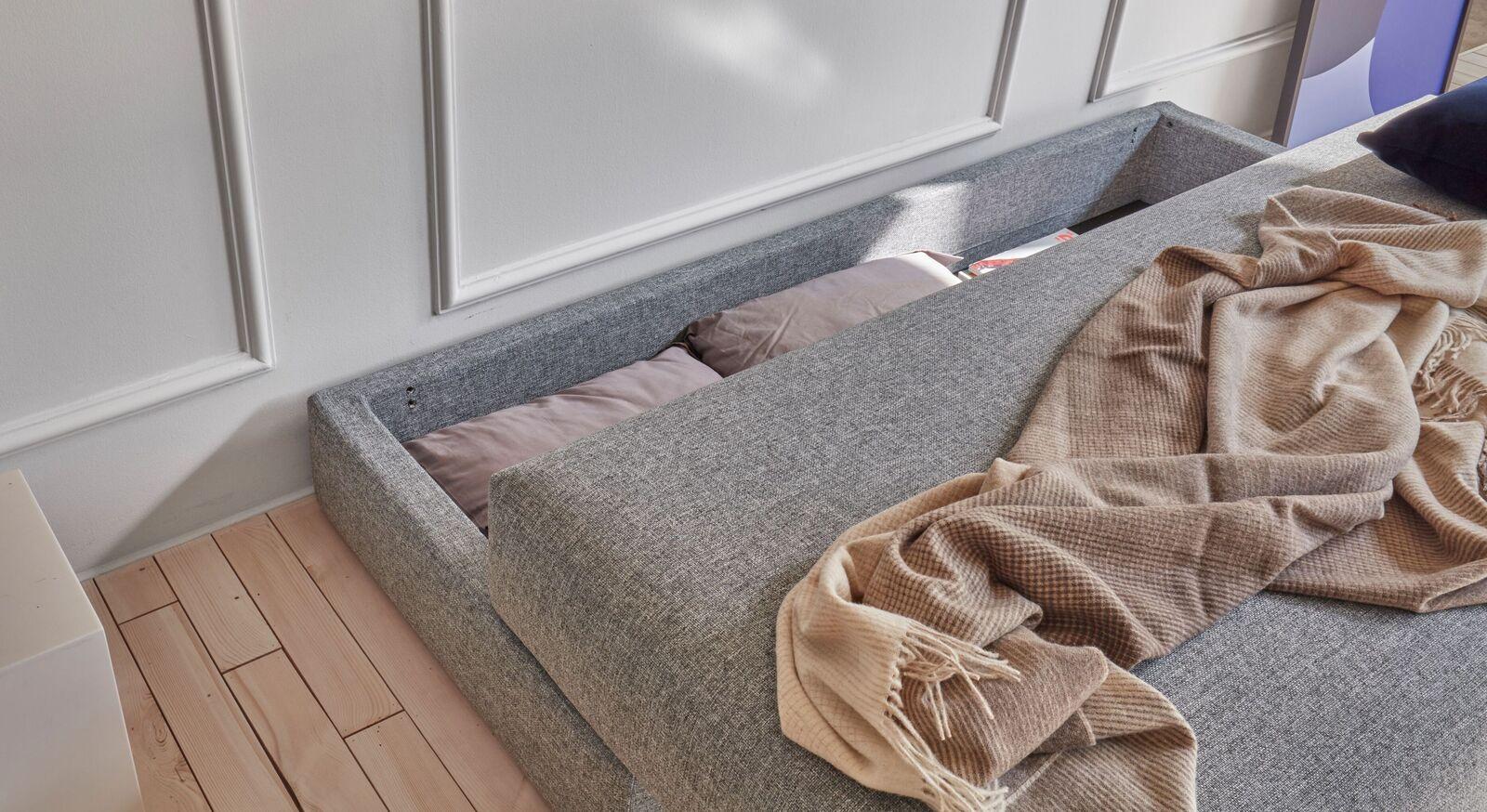 Sofaliege Morven mit integriertem Bettkasten