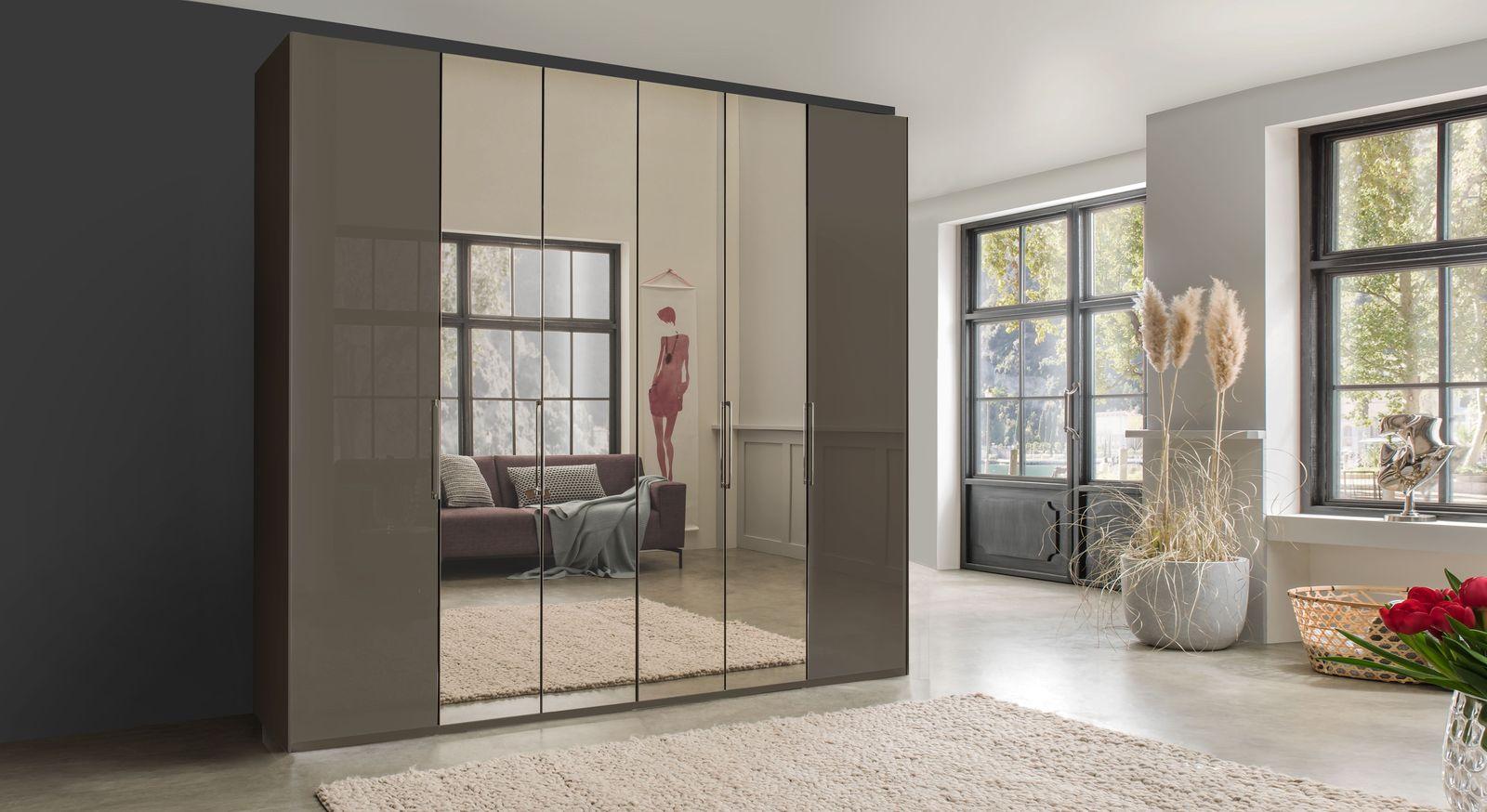 Spiegel-Falttüren-Kleiderschrank Southville in hochwertiger Qualität