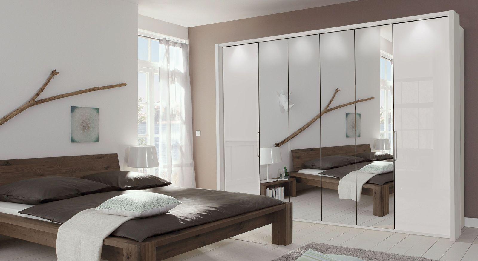 Spiegel-Falttüren-Kleiderschrank Westville mit Drehtüren mit Glasfront