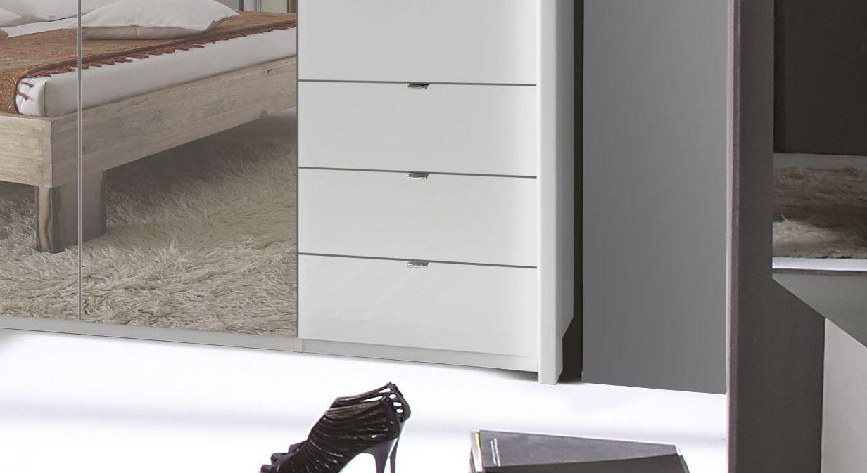 Spiegel-Funktions-Kleiderschrank Westville mit seitlichen Schubfächern