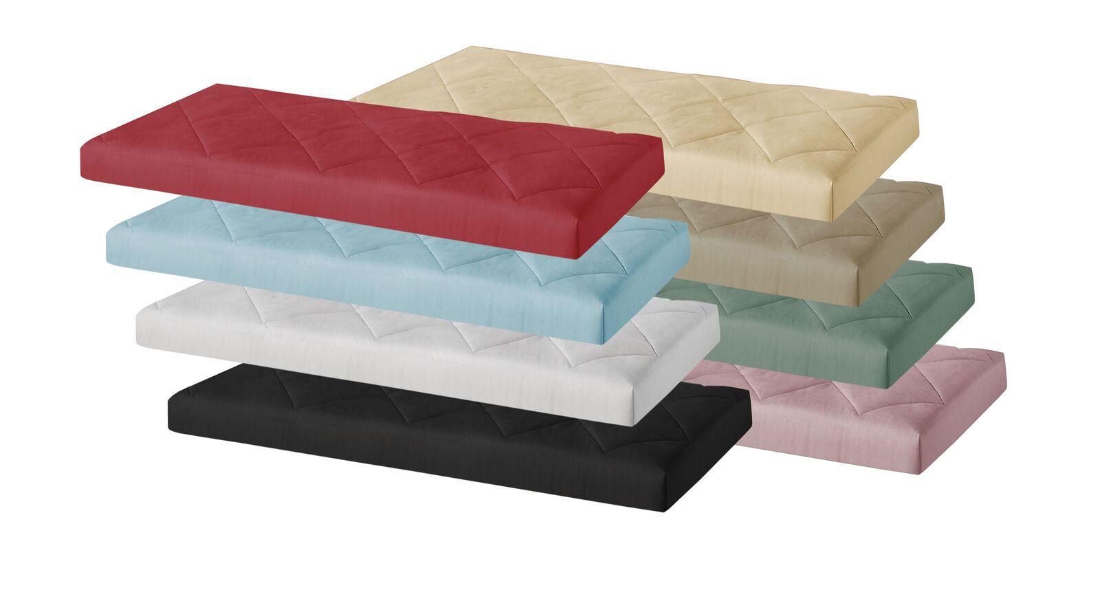 Stoffbezogene Matratze Elvio mit verschiedenen Bezugsarten