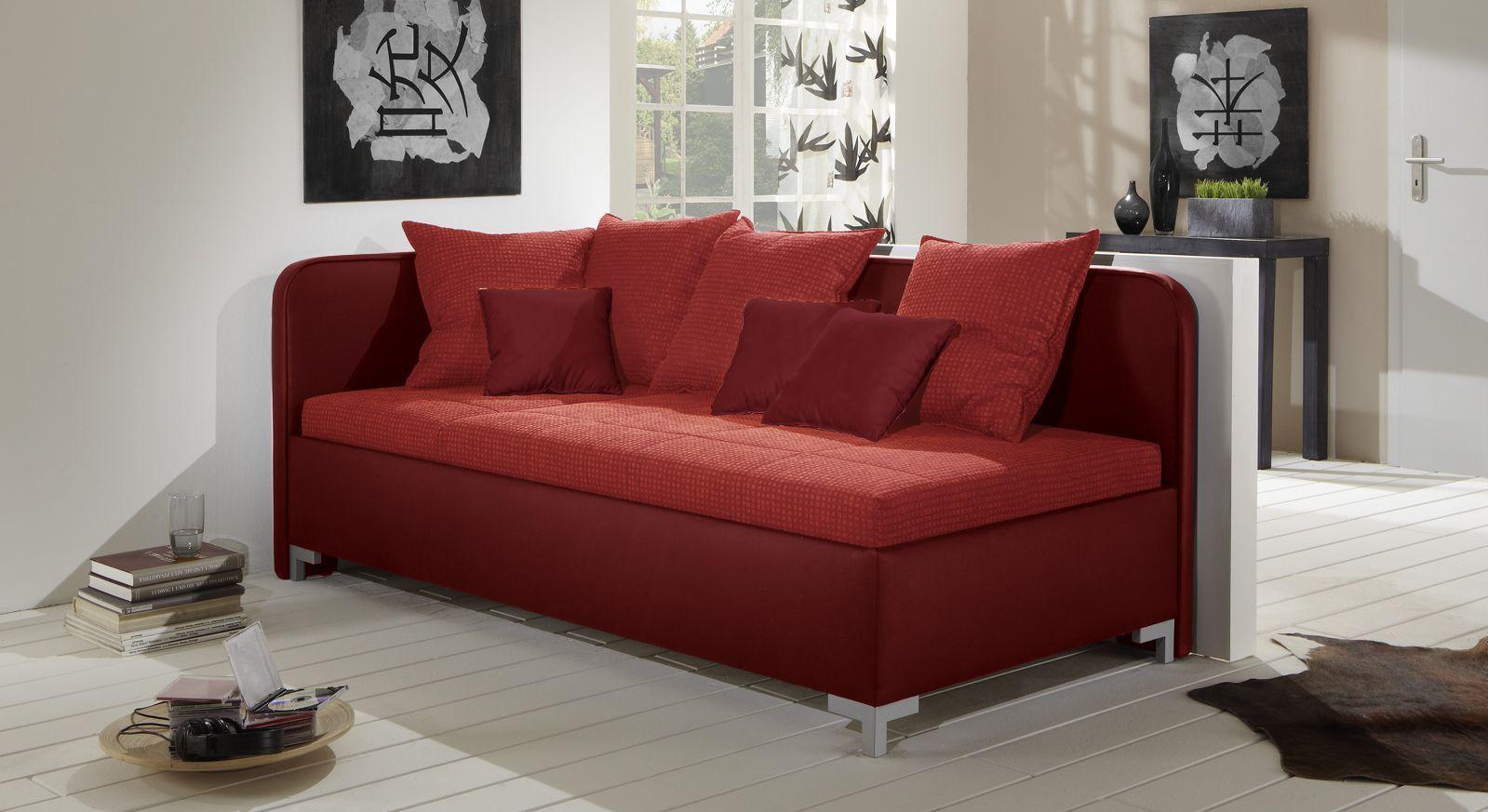 Studioliege Anteo aus rotem Leder