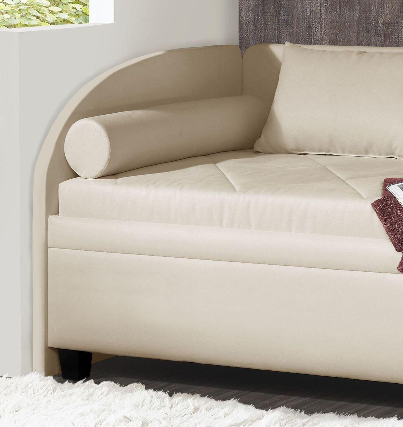 Bettkasten Studioliege mit Seiten  & Rückenlehne   Kamina Komfort