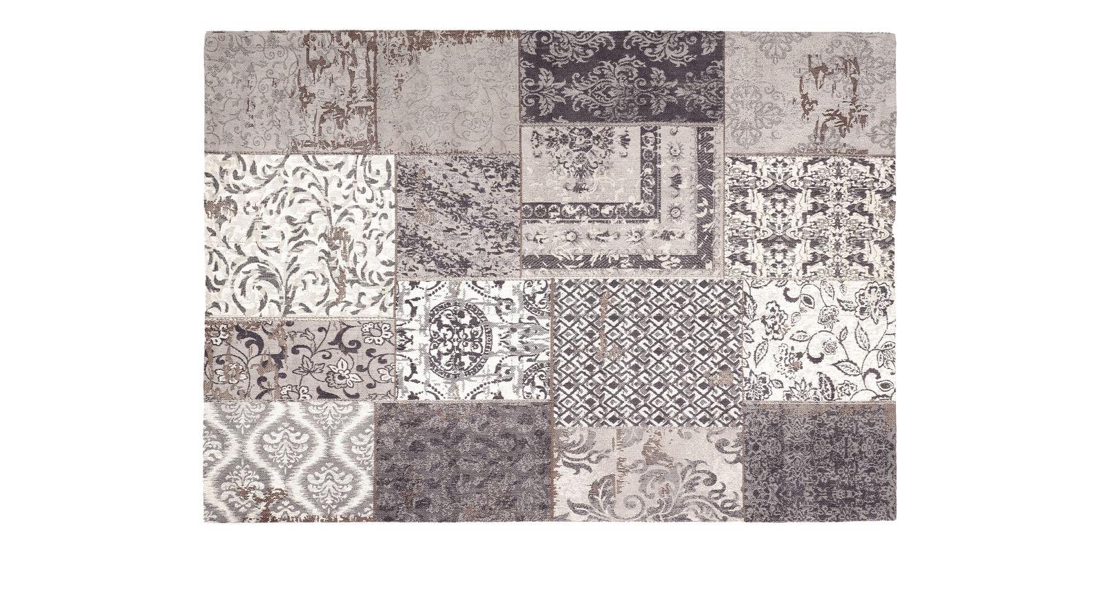 Teppich Patch grau mit angenehmer Oberflächenstruktur