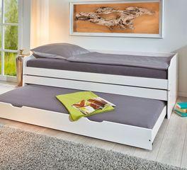 3-in-1 Funktionsbett mit auf Rollen laufender Bettschublade