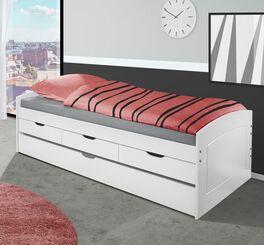 Weiß lackiertes Ausziehbett Nouna