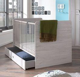 Babybett Carlino mit weißem Seitengitter