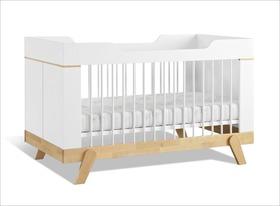 Babybett Monina in Weiß umbaubar zum LIFETIME Juniorbett
