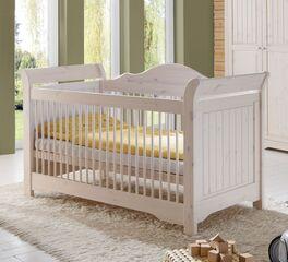 Kiefernholz-Babybett Nela mit Maserung