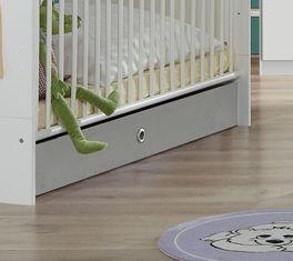 Babybett Porvenirs Bettschublade mit praktischem Griffloch