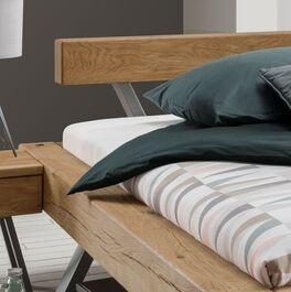 Balkenbett Senri mit Holz-Kopfteil