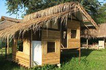 Bambus Hütte