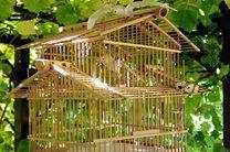 Bambus Vogelkäfig