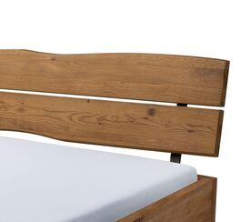 Bett Antero mit geneigtem Holz-Kopfteil