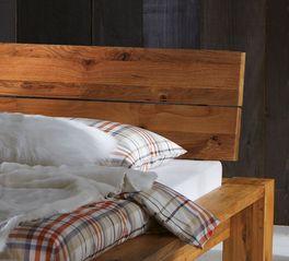 Bett Kopfteli mit Echtholz-Kopfteil zum Anlehnen