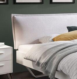 Bett Cilona mit stylischem Kissen-Kopfteil
