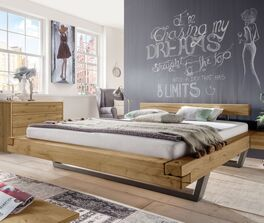 Modernes Bett Darica mit Schwebeoptik