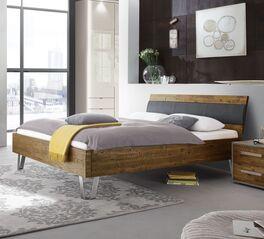 Trendiges Bett Detaria mit Kopfteil-Polster