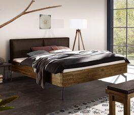 Bett Envigado mit trendigem Holzrahmen