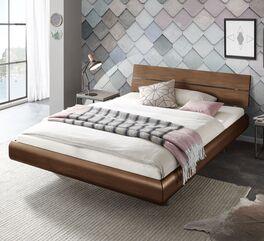 Modernes Bett Galatis in Schwebeoptik
