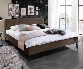 Preiswertes Bett Gitega mit weichem Bezug
