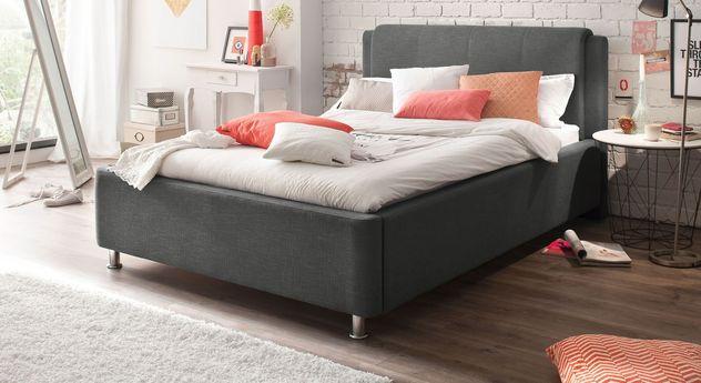 Bett La Marsa in Anthrazit mit einer Breite von 140 cm
