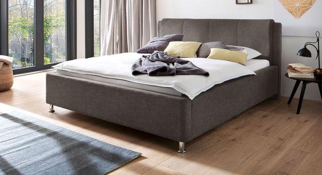 Dunkelbraunes Bett La Marsa mit einer Breite von 180 cm