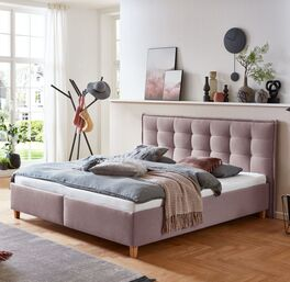 Bett Lusaka mit Webstoff in verschiedenen Farben