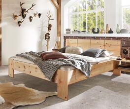 Zirbenholz-Bett Nudo im Landhausstil