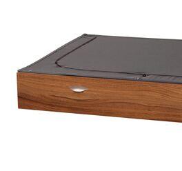 Bett-Schubkasten Pesaro mit dunklem Stoffdeckel