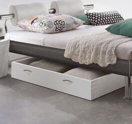 Bett-Schubkasten Pesaro mit weißer Dekor-Oberfläche