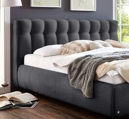 Stylisches Bett Sumaya mit geheftetem Kopfteil