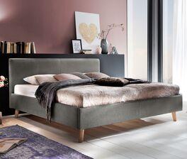 Bett Susella mit hochwertigem Stoffbezug