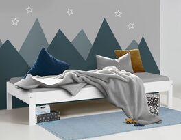 Günstiges Bett Tacora aus weißem MDF