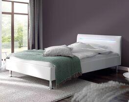 Preiswertes Bett Yesmina für Jugendzimmer in Weiß