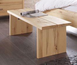 Massivholz-Bettbank Nemea aus Wildbuche