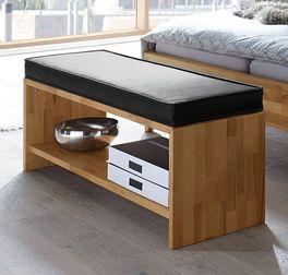 120 cm breite Bettbank Ramiro aus Echtholz
