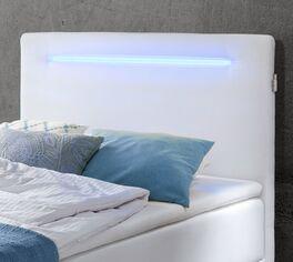 Bettkasten-Boxspringbett Inikos Kopfteil mit Beleuchtung