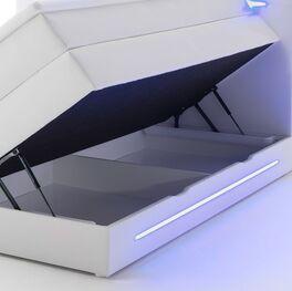 Bettkasten-Boxspringbett Tarasco mit geteilter Box
